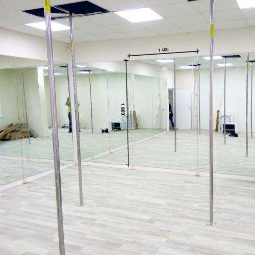 Зеркало в танцевальный зал 1800 1400 мм. ( 180 х 140 см)