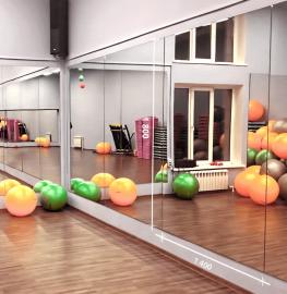 Зеркало в спортивный зал 1800 1400 мм. ( 180 х 140 см)