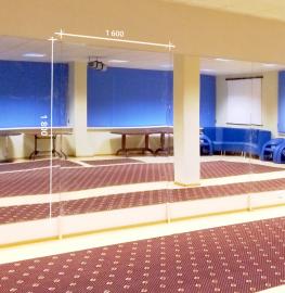 Зеркало в спортивный зал 1800 1600 мм. ( 180 х 160 см)