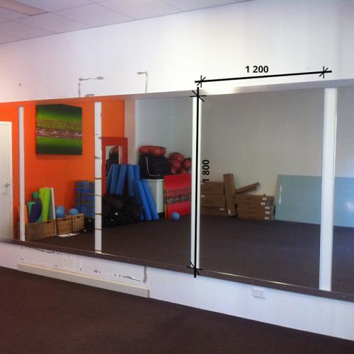 Зеркало в спортивный зал 1800 1200 мм. ( 180 х 120 см)