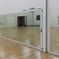 Зеркало в танцевальный зал 1800 1200 мм. ( 180 х 120 см)