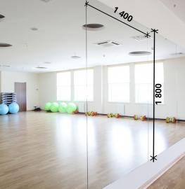 Зеркала в фитнес 1800 1400 мм. ( 180 х 140 см)