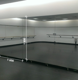 Зеркало в хореографический зал 1800 1600 мм.