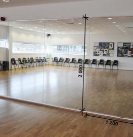 Зеркала в тренажерный зал 2000 1200 мм.