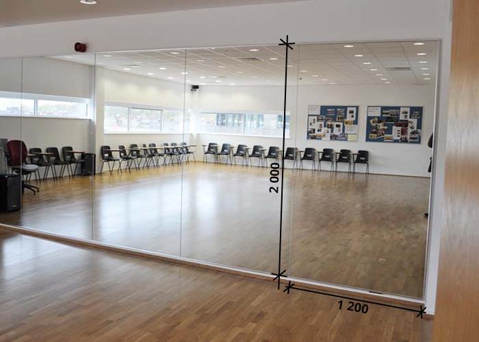 Зеркала в тренажерный зал 2000 1200 мм. ( 200 х 120 см)