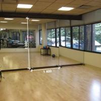 Зеркало в спортивный зал 2000 1400 мм.