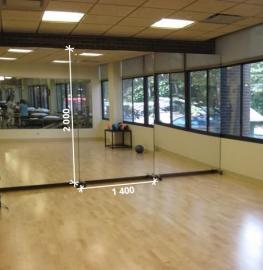 Зеркало в спортивный зал 2000 1400 мм. ( 200 х 140 см)