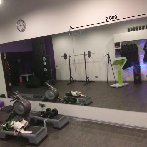 Зеркала в фитнес 2000 1500 мм.