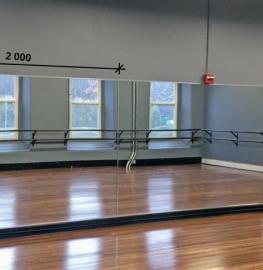 Зеркало в хореографический зал 2000 1500 мм.