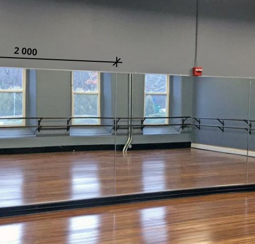 Зеркало в хореографический зал 2000 1500 мм. ( 200 х 150 см)