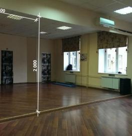 Зеркала в фитнес 2000 1600 мм.