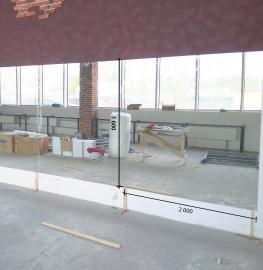 Зеркало в танцевальный зал 2000 1600 мм.