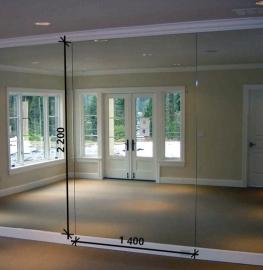 Зеркало в хореографический зал 2200 1400 мм.