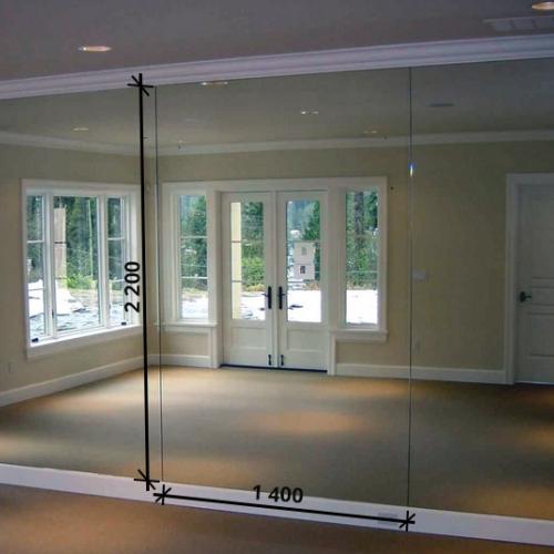 Зеркало в танцевальный зал 2200 1400 мм. (220 х 140 см)