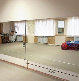 Зеркало в танцевальный зал 2200 1600 мм.