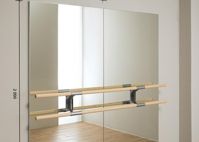 Зеркало в хореографический зал 2000 1200 мм.