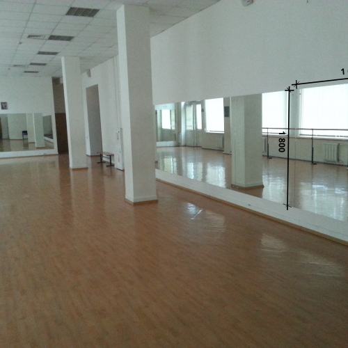 Зеркало в танцевальный зал 1800 1600 мм.