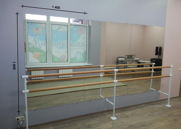 Зеркало в хореографический зал 1800 1400 мм. ( 180 х 140 см)