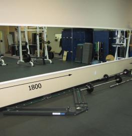 Зеркала в фитнес 1800 1000 мм. ( 180 х 100 см)