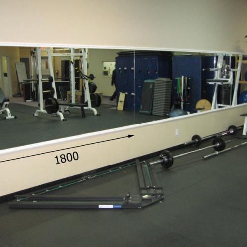 Зеркала в фитнес 1800 1000 мм.