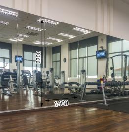 Зеркала в фитнес 2200 1400 мм. ( 220 х 140 см)