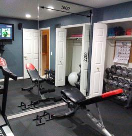 Зеркало в спортивный зал 2200 1600 мм. ( 220 х 160 см)