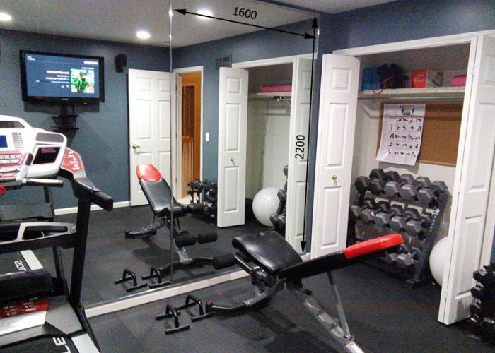 Зеркало в спортивный зал 2200 1600 мм.