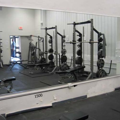 Зеркала в тренажерный зал 2200 1500 мм. ( 220 х 150 см)