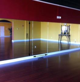 Зеркало в хореографический зал 2200 1600 мм.