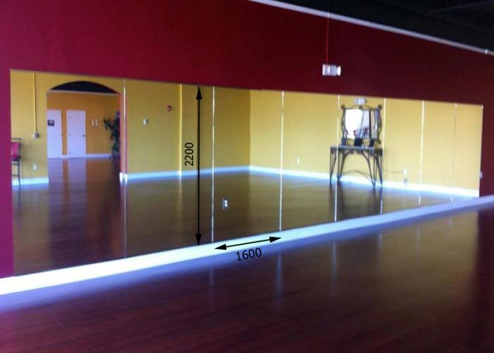 Зеркало в хореографический зал 2200 1600 мм. ( 220 х 160 см)