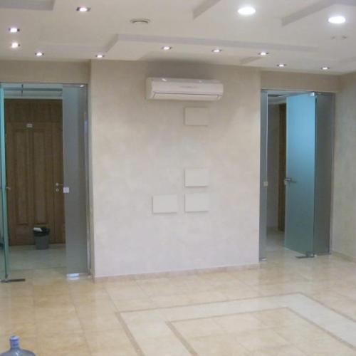 Пример Стеклянные двери