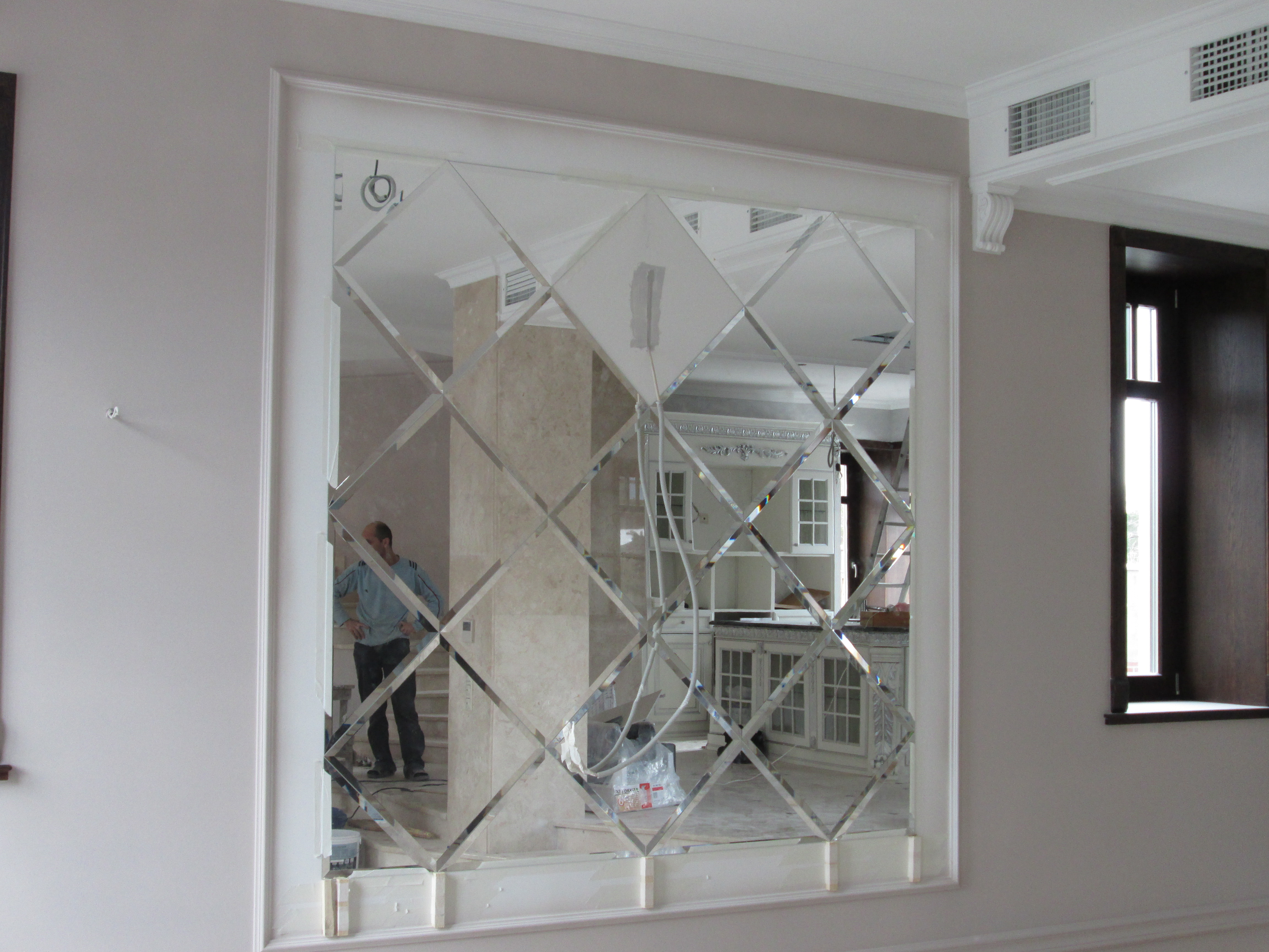 Зеркальное панно с фацетом варианты укладки фото